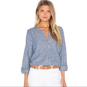 Joie Kalan Chambray Blouse in Sailor Blue stripe